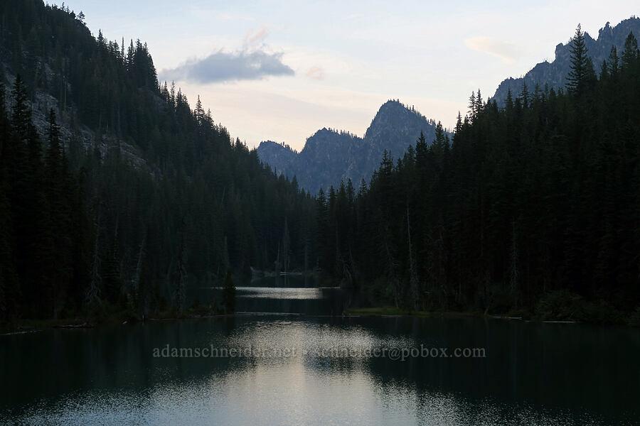 Nada Lake & Wedge Mountain at sunset [Snow Lakes Trail, Alpine Lakes Wilderness, Washington]