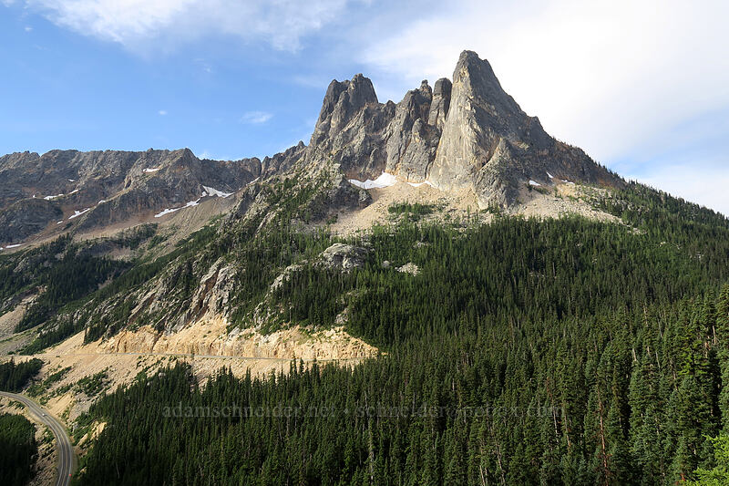 Early Winter Spires & Liberty Bell [Washington Pass Overlook, Okanogan-Wenatchee National Forest, Washington]
