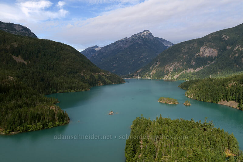 Diablo Lake & Davis Peak [Diablo Lake Overlook, North Cascades National Park, Washington]