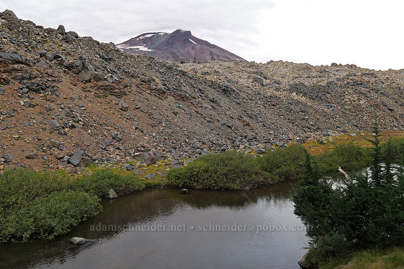 Fall Creek & Newberry lava flow [Green Lakes Trail, Three Sisters Wilderness, Oregon]