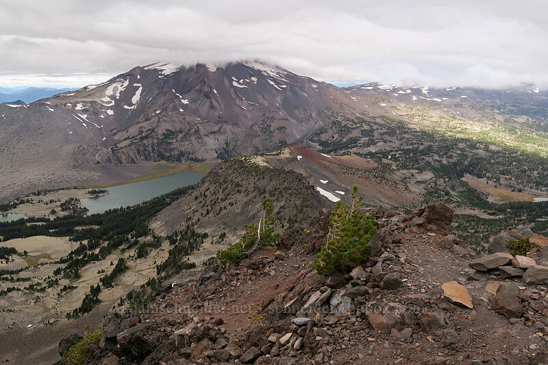 South Sister, Green Lakes, & Broken Top's northwest ridge [Broken Top climber's trail, Three Sisters Wilderness, Oregon]
