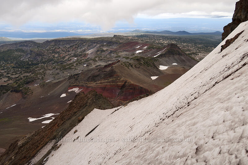 snowfield & Tam McArthur Rim [Broken Top climber's trail, Three Sisters Wilderness, Oregon]