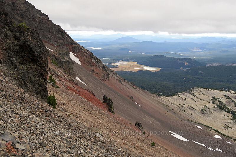scree slope [west side of Broken Top, Three Sisters Wilderness, Oregon]