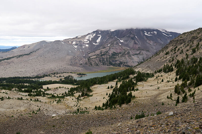 pumice slopes & South Sister [west side of Broken Top, Three Sisters Wilderness, Oregon]
