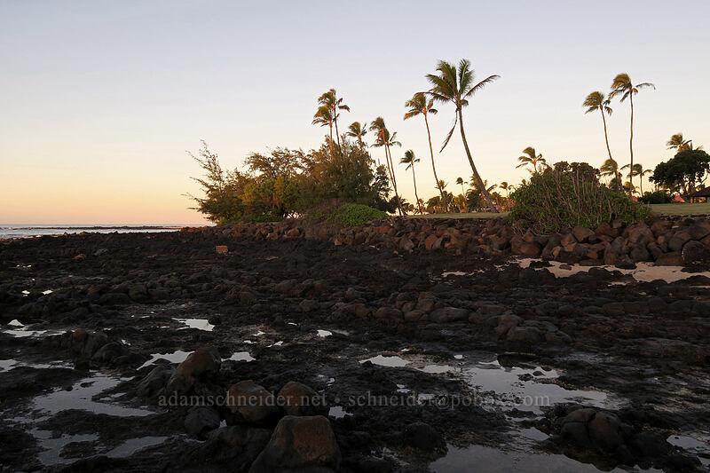 sunrise [Po'ipu Beach Park, Po'ipu, Kaua'i, Hawaii]