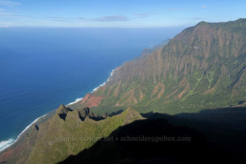 Na Pali Coast & Kalalau Valley [Kalepa Ridge Trail, Na Pali Coast State Park, Kaua'i, Hawaii]
