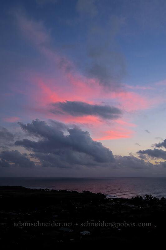 sunset clouds [Waimea Canyon Drive, Waimea, Kaua'i, Hawaii]