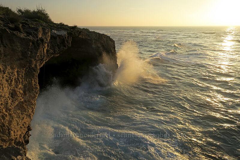 high surf [Makawehi Bluff, Po'ipu, Kaua'i, Hawaii]