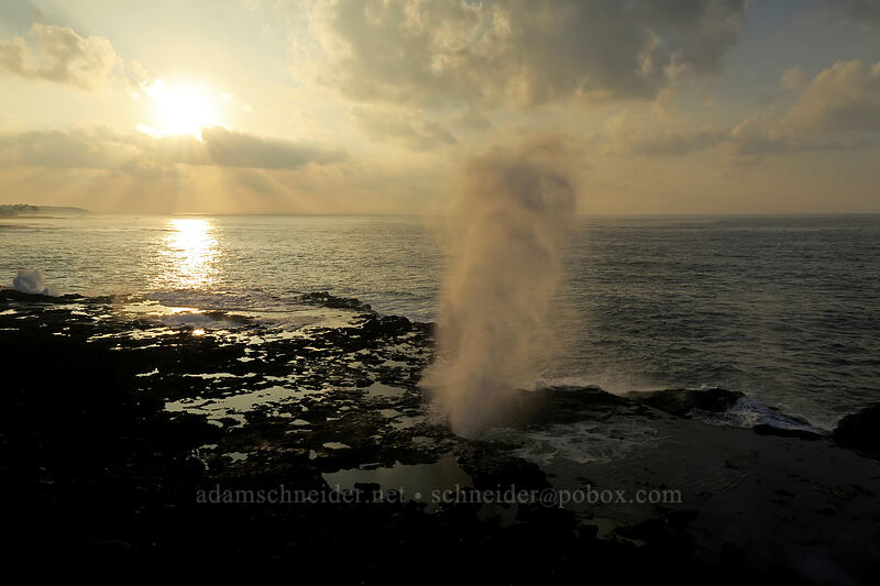 sunrise at Spouting Horn [Spouting Horn Beach Park, Kukui'ula, Kaua'i, Hawaii]