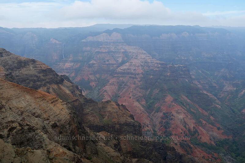 Waimea Canyon, hazy [Waimea Canyon Lookout, Waimea Canyon State Park, Kaua'i, Hawaii]