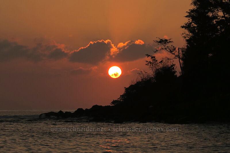 sunrise [Papa'a Bay, Anahola, Kaua'i, Hawaii]