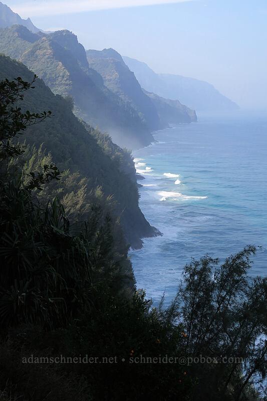 Na Pali Coast [Kalalau Trail, Na Pali Coast State Park, Kaua'i, Hawaii]