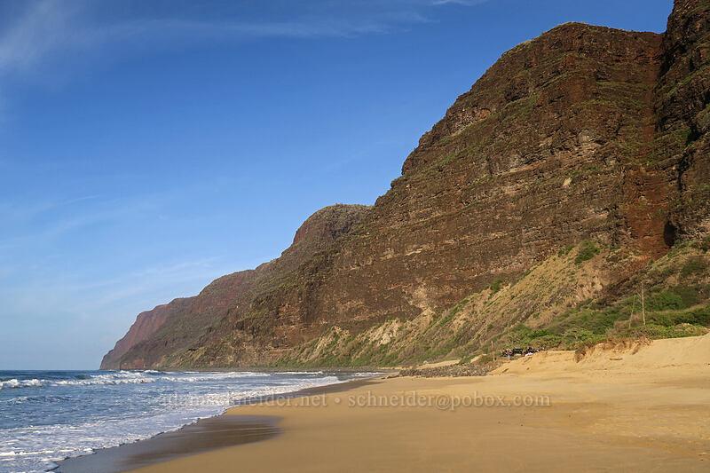 end of Polihale Ridge [Polihale Beach, Polihale State Park, Kaua'i, Hawaii]