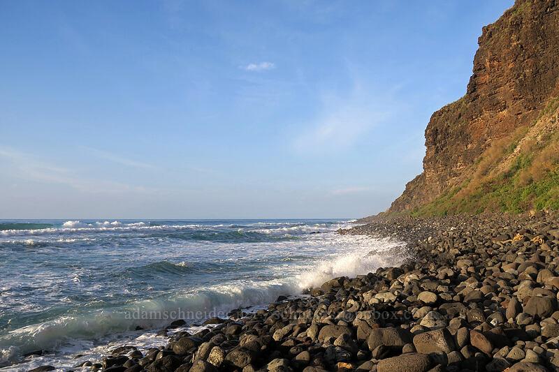 beyond Polihale's sand [Polihale Beach, Polihale State Park, Kaua'i, Hawaii]