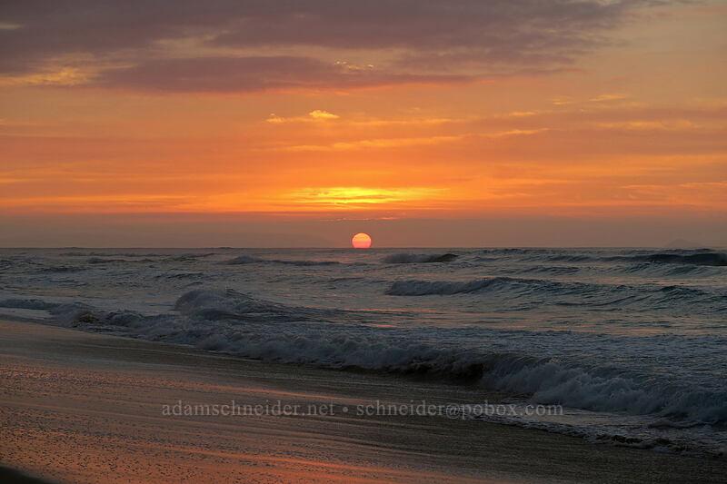 Polihale sunset [Polihale Beach, Polihale State Park, Kaua'i, Hawaii]