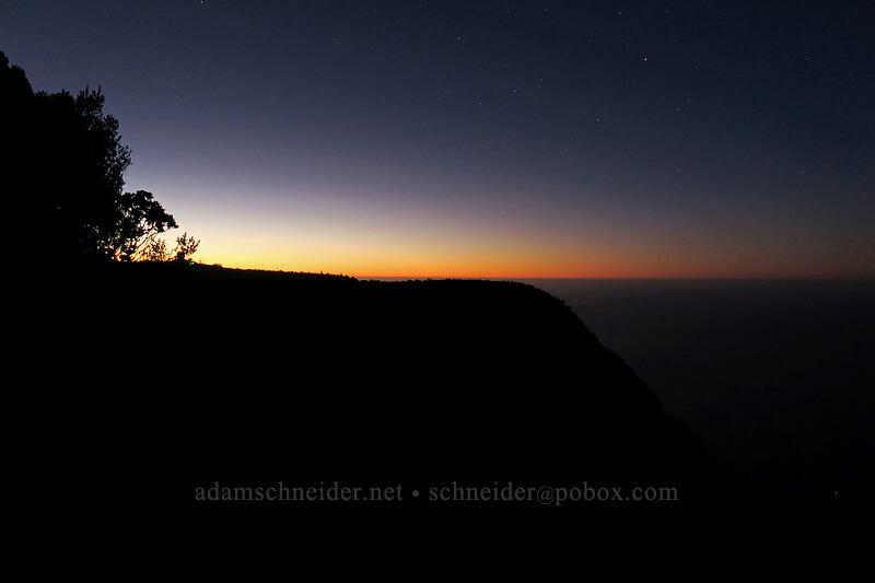 twlight above Kalalau [Pu'u o Kila, Koke'e State Park, Kaua'i, Hawaii]