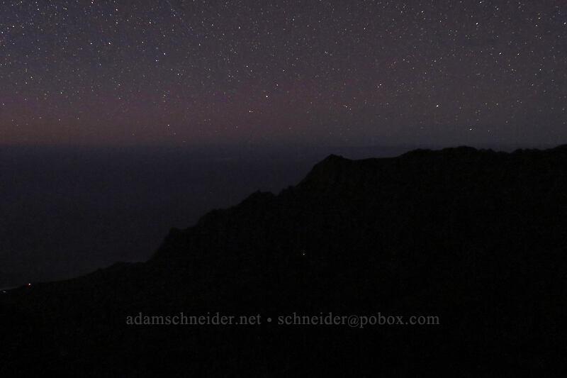 Kalalau Valley & stars [Pu'u o Kila, Koke'e State Park, Kaua'i, Hawaii]