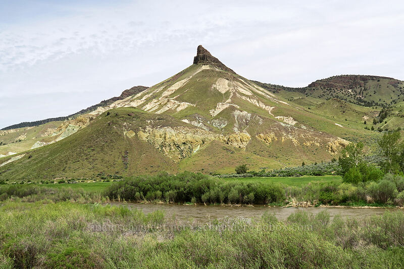 Sheep Rock & the John Day River [Highway 19, John Day Fossil Beds National Monument, Oregon]