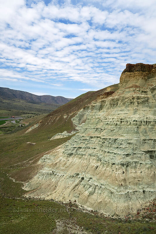 blue rock & cloud pattens [Flood of Fire Trail, John Day Fossil Beds National Monument, Oregon]