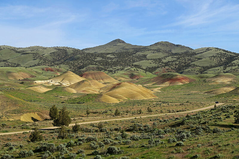 Painted Hills & Sand Mountain [Painted Cove Trail, John Day Fossil Beds National Monument, Oregon]