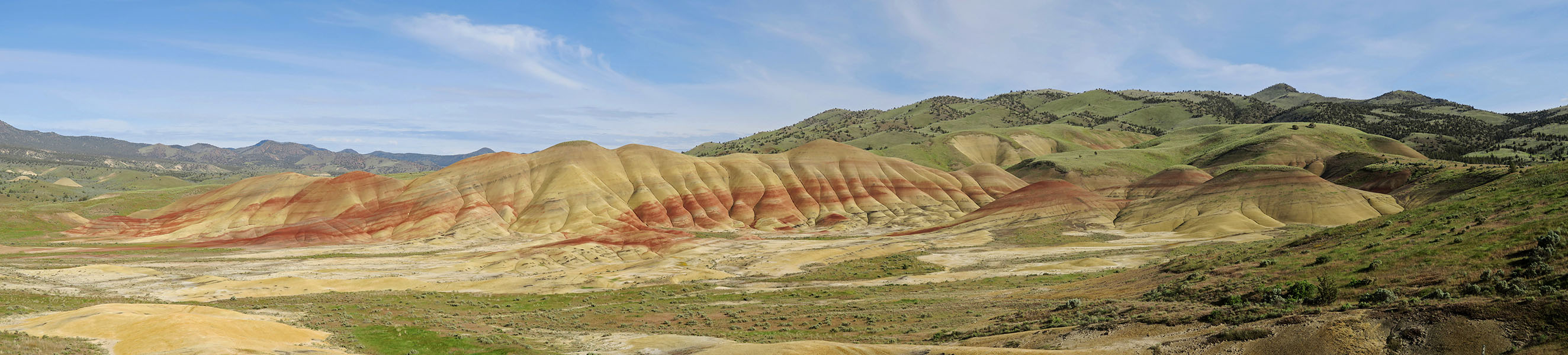 Painted Hills panorama [Painted Hills Unit, John Day Fossil Beds National Monument, Oregon]