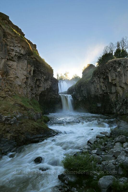 White River Falls & Celestial Falls [White River Falls State Park, Wasco County, Oregon]