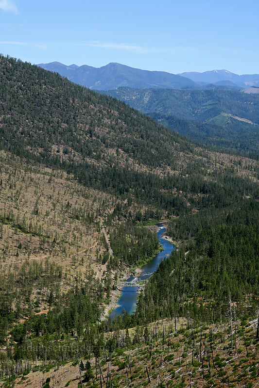 Illinois River & Siskiyou Mountains [Forest Road 4201, Rogue River-Siskiyou National Forest, Oregon]