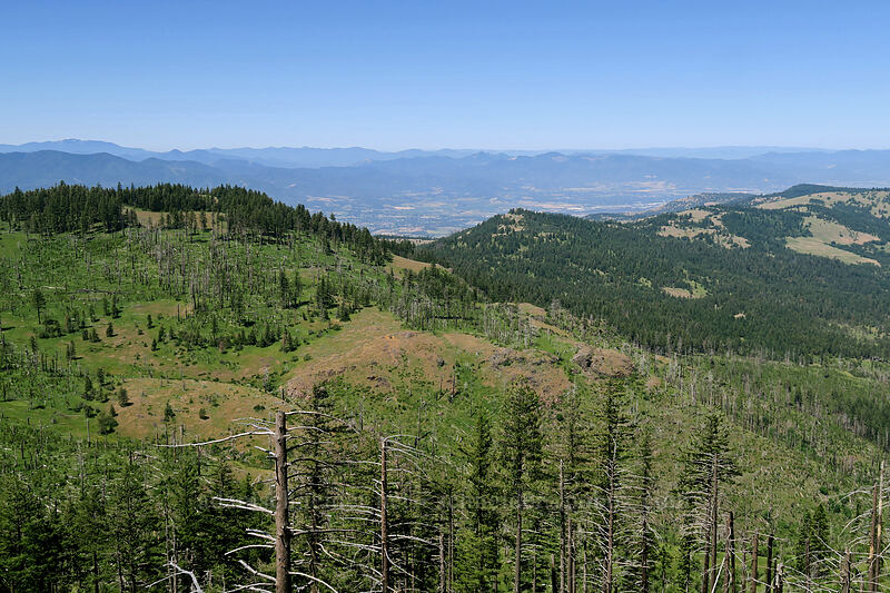 view toward Medford [Grizzly Peak Trail, Jackson County, Oregon]