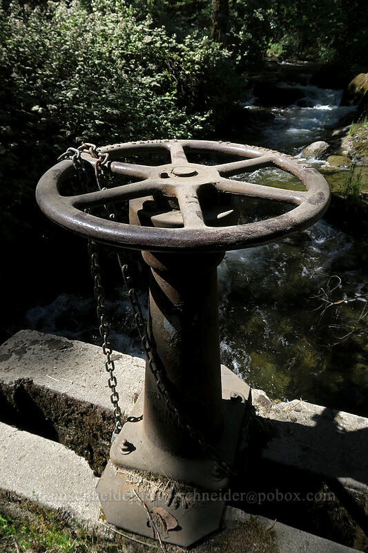 spillway wheel [Lithia Park, Ashland, Oregon]
