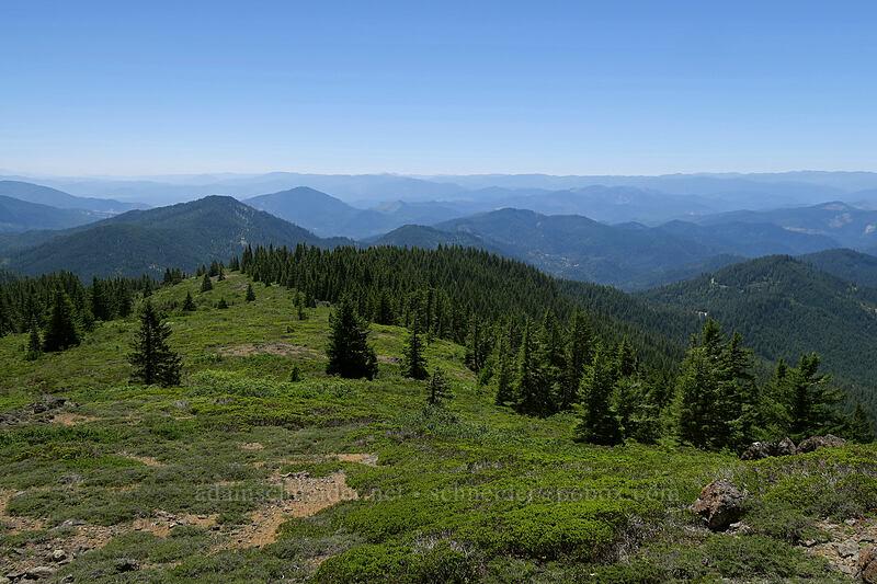 view to the southwest [King Mountain ACEC, Josephine County, Oregon]