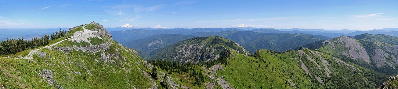 Silver Star Mountain panorama [Silver Star Mountain, Gifford Pinchot National Forest, Washington]
