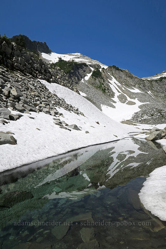 meltwater below Lake Elan (Vesper Lake) [Vesper Basin, Mount Baker-Snoqualmie National Forest, Washington]