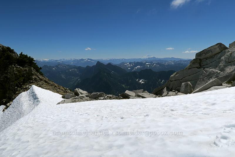 view toward Mt. Rainier [Vesper Peak, Mount Baker-Snoqualmie National Forest, Washington]