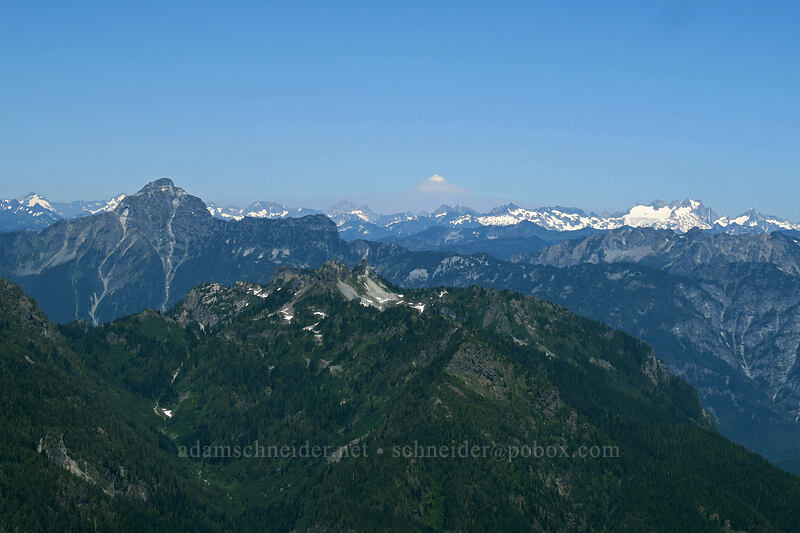 view to the northeast [Vesper Peak summit, Mount Baker-Snoqualmie National Forest, Washington]