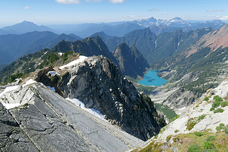 slab on the north side of Vesper Peak [Vesper Peak summit, Mount Baker-Snoqualmie National Forest, Washington]