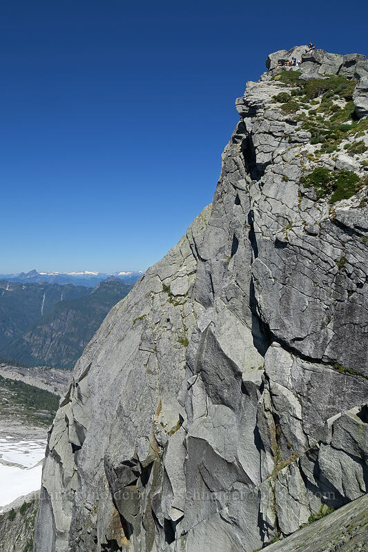 Vesper Peak's northwest face [Vesper Peak summit, Mount Baker-Snoqualmie National Forest, Washington]