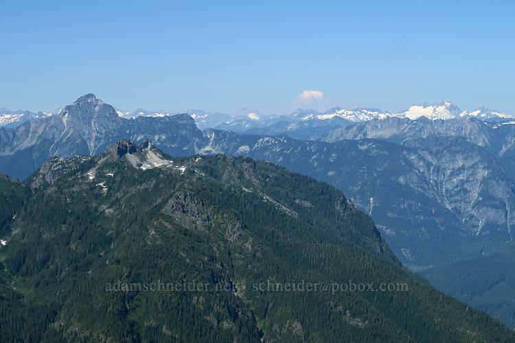 distant smoke [Sperry Peak summit, Morning Star NRCA, Washington]