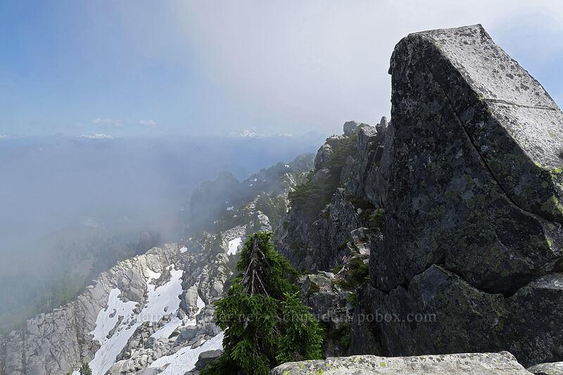 clouds & rocks [Mount Pilchuck summit, Mount Pilchuck State Park, Washington]