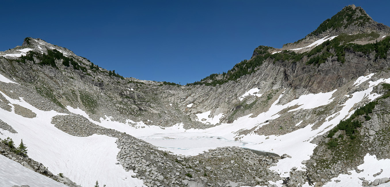Wolf Peak & Sperry Peak panorama [Vesper Peak, Mount Baker-Snoqualmie National Forest, Washington]