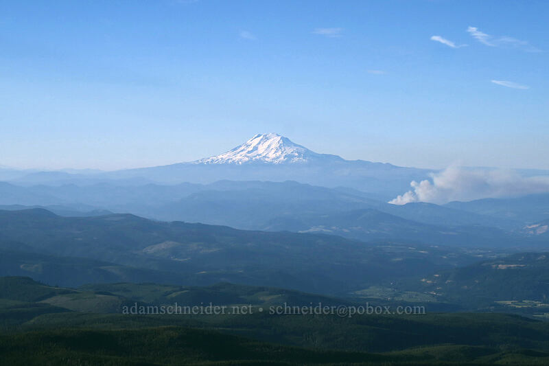 Mt. Adams & the Dry Creek Fire [below Barrett Spur, Mt. Hood Wilderness, Oregon]