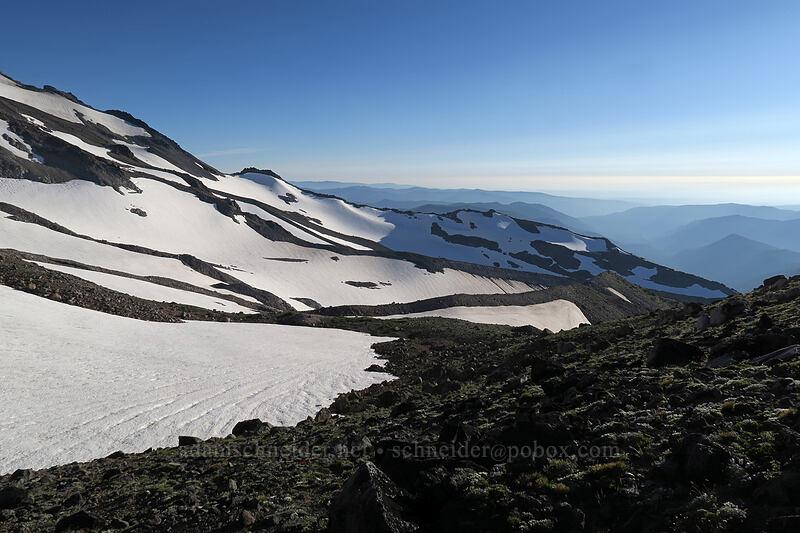 snowfields below Ladd Glacier [below Barrett Spur, Mt. Hood Wilderness, Oregon]