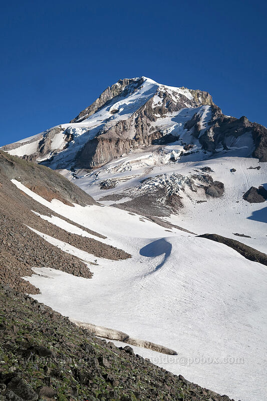 Mount Hood & Ladd Glacier [below Barrett Spur, Mt. Hood Wilderness, Oregon]