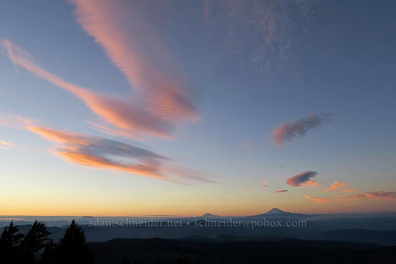 sunset clouds [above Dollar Lake, Mt. Hood Wilderness, Oregon]