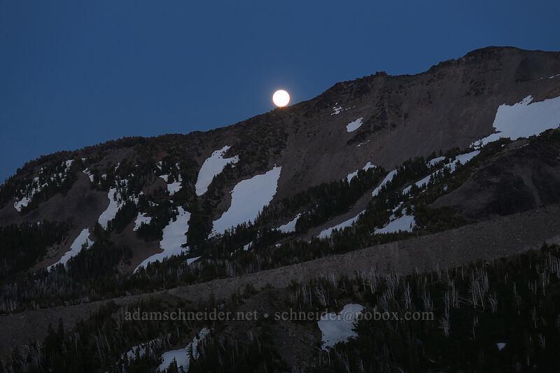 moonrise over Langille Crags [Dollar Lake, Mt. Hood Wilderness, Oregon]