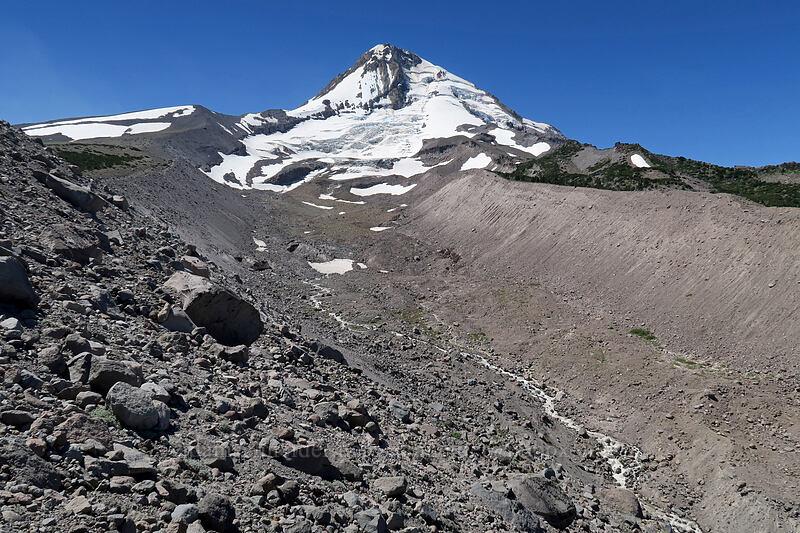Mount Hood & Eliot Creek [Eliot Glacier east moraine, Mt. Hood Wilderness, Oregon]
