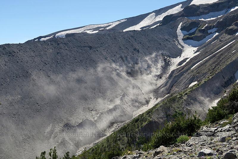 moraine dust storm [Timberline Trail, Mt. Hood Wilderness, Oregon]