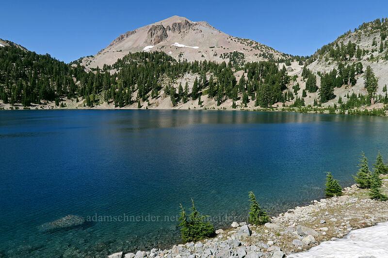 Lassen Peak & Lake Helen [Lassen Peak Highway, Lassen Volcanic National Park, California]