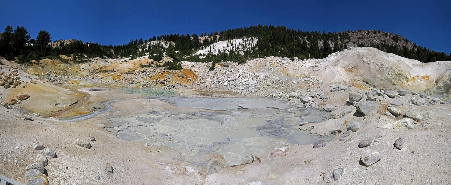 Bumpass Hell panorama [Bumpass Hell, Lassen Volcanic National Park, California]