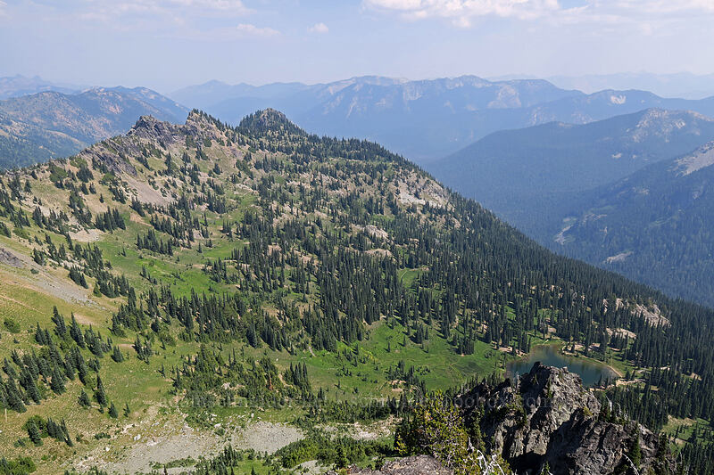 Sourdough Gap & Sheep Lake [Chinook Peak summit, Wenatchee National Forest, Washington]