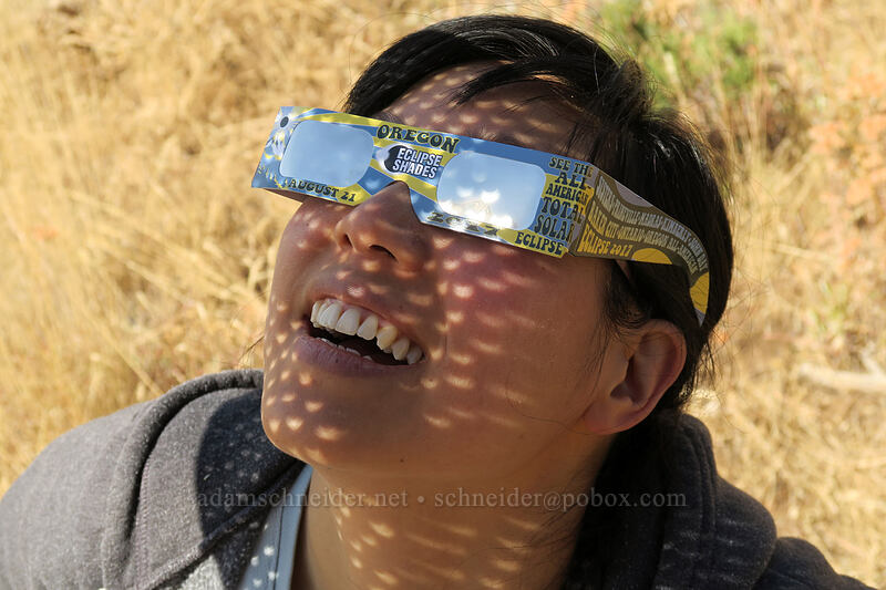eclipse-gazing [Long Creek Mountain, Malheur National Forest, Oregon]